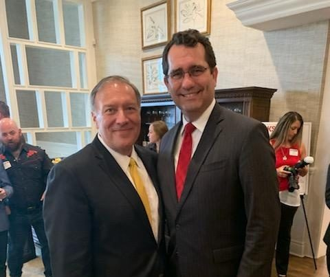 In The News: Secretary Pompeo Endorses Schmidt For Governor